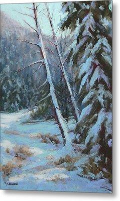 Winter Silence Metal Print by Debra Mickelson