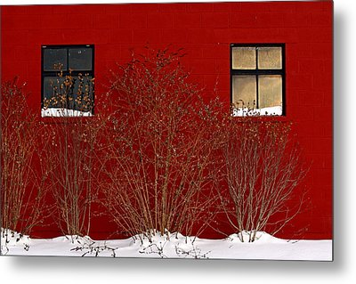 Metal Print featuring the photograph Winter Sky Reflection by Don Nieman