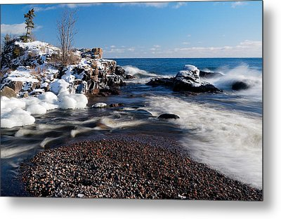 Winter Splash Metal Print by Sebastian Musial