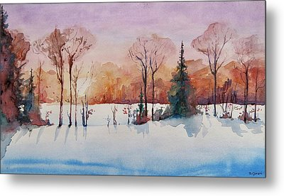 Winter Sunrise Metal Print