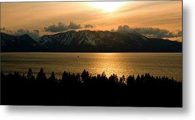 Winter Sunset At Lake Tahoe Metal Print