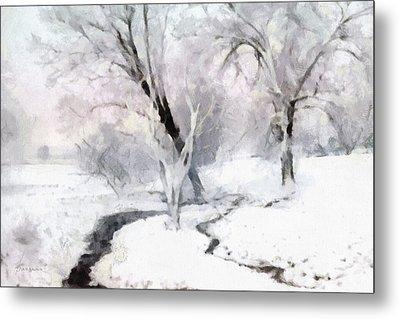 Winter Trees Metal Print by Francesa Miller