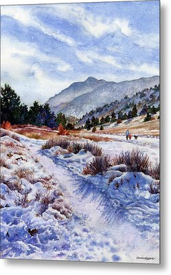 Metal Print featuring the painting Winter Wonderland by Anne Gifford