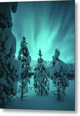 Winterland Metal Print by Tor-Ivar Naess