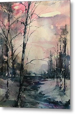 Winter's Blush Metal Print by Robin Miller-Bookhout