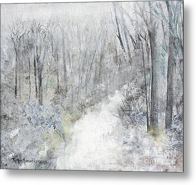 Metal Print featuring the painting Winter's Day by Robin Maria Pedrero