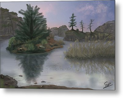 Winter's Edge Metal Print by Steven Powers SMP
