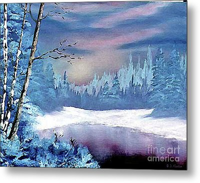 Winterscape Metal Print by Dee Flouton