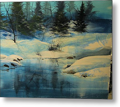 Winterscape Metal Print by Robert Carver