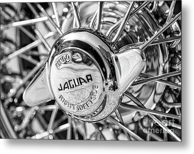Metal Print featuring the photograph Wire Wheel Black And White by Dennis Hedberg