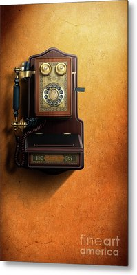 Wired To The Wall Metal Print