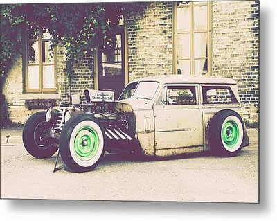 Metal Print featuring the photograph Wisconsin State Journal Ratrod by Joel Witmeyer