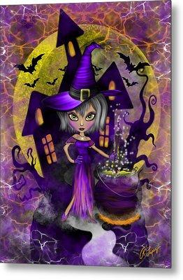 Wisdom Witch Fantasy Art Metal Print