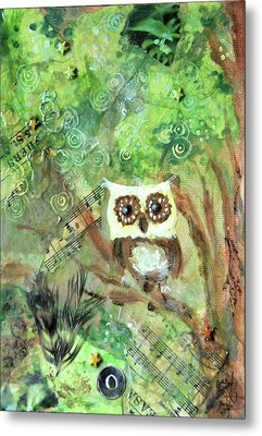 Wise Old Owl Metal Print by Jennifer Kelly