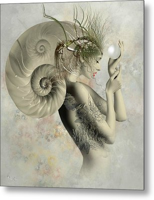 Wish On A Pearl Metal Print by Ali Oppy