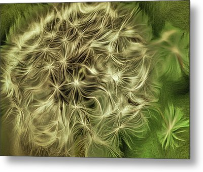 Metal Print featuring the mixed media Wishies by Trish Tritz