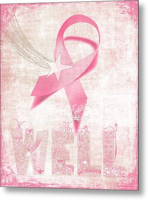 Wishing Well Breast Cancer Metal Print