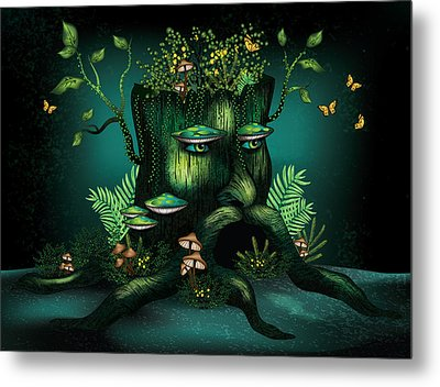 Wizard Stump Metal Print by Serena King