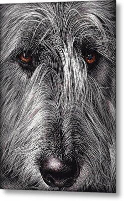 Wolfhound Metal Print by Elena Kolotusha