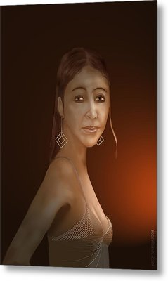Metal Print featuring the digital art Woman 10 by Kerry Beverly