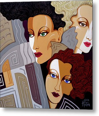 Woman Times Three Metal Print