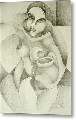 Woman With A Pitcher Metal Print by Dagmara Czarnota