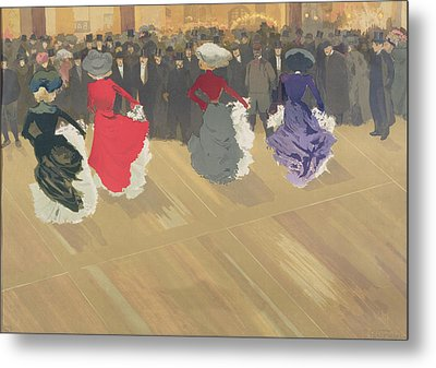 Women Dancing The Can Can Metal Print by Abel Truchet