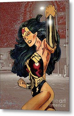 Wonder Woman Metal Print by Bill Richards