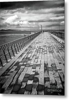Metal Print featuring the photograph Wood And Pier by Perry Webster