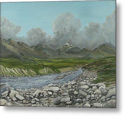 Wood River Storm Metal Print by Amy Reisland-Speer