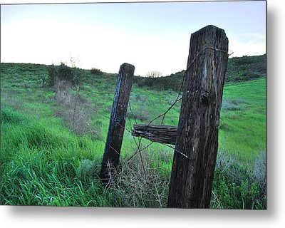 Metal Print featuring the photograph Wooden Gate In Field by Matt Harang
