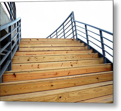 Wooden Staircase To The Sky Metal Print by Yali Shi