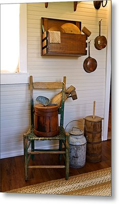 Wooden Wares And Farm Life Metal Print by Carmen Del Valle