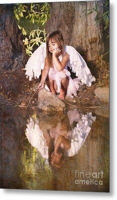Woodland Fairy Metal Print by Cindy Singleton