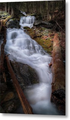 Metal Print featuring the photograph Woodland Falls 2017 by Bill Wakeley