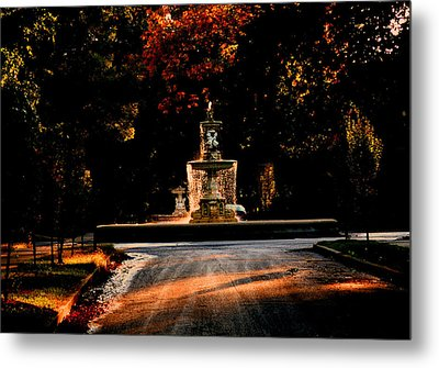Woodruff Place Fountain  Metal Print by Martin Morehead
