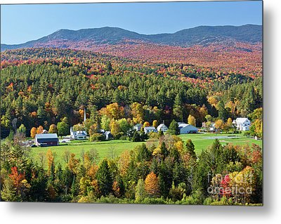 Worcester Vermont Autumn Metal Print by Alan L Graham