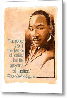 Words Of Peace  Man Of Peace  Martin Luther King Jr Metal Print