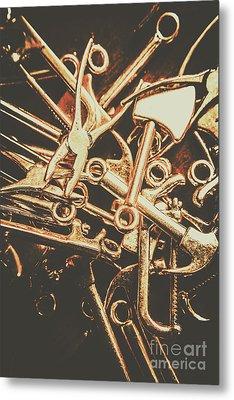 Workshop Abstract Metal Print