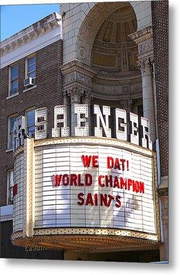 World Champion Saints Metal Print by Jeanne  Woods