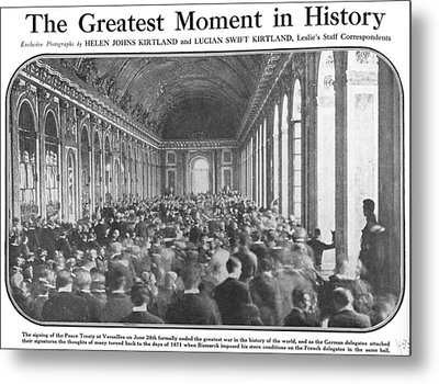 World War I, Signing The Peace Treaty Metal Print by Everett