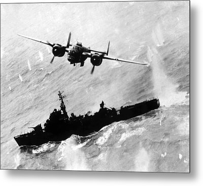 World War II, An American B-25 Bomber Metal Print by Everett