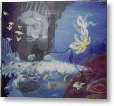 Worlds Merge With Music Metal Print by Enton Boothe