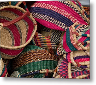 Woven Baskets Metal Print by Walter Beck