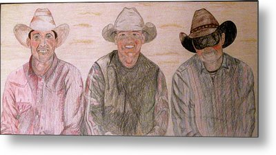 Wranglers From Elkhorn Metal Print