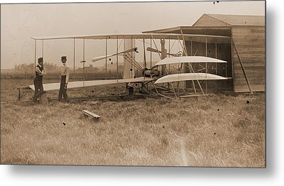 Wright Brothers 2nd Powered Machine Metal Print by Padre Art