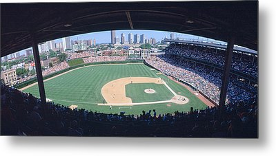 Wrigley Field, Chicago, Cubs V Metal Print by Panoramic Images