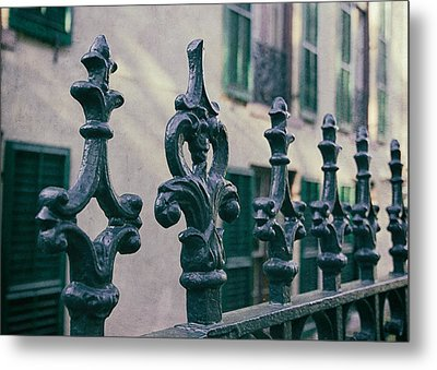 Wrought Iron Fence Metal Print by Kim Hojnacki