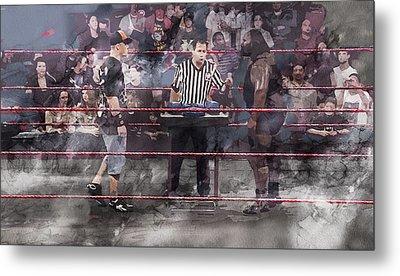Wwe Wrestling 1105 Metal Print