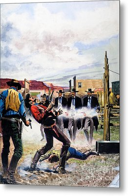 Wyatt Earp And The Battle Of The Ok Corral Metal Print
